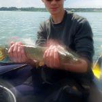 zabrakło 2 cm, ale i tak najdłuższa ryba I tury
